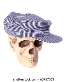 Skull in train