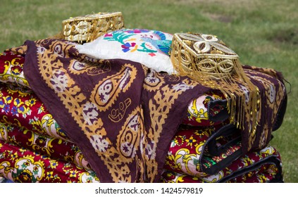 skullcap and national fabrics on the counter