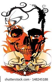 skulls danger