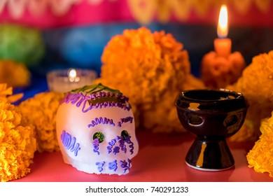 Skulls - Day of the dead celebration - Ofrenda dia de muertos