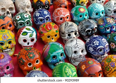 Skulls for Sale at Chichen Itza