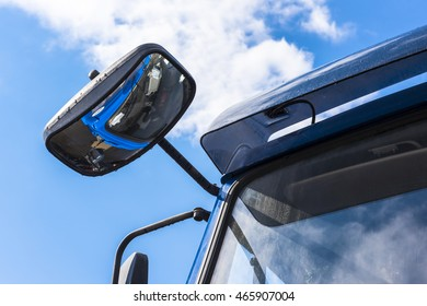 The sky above the cab of the truck