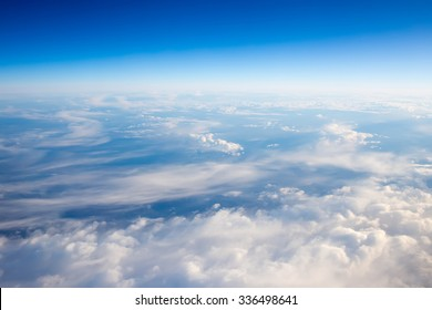 The sky above the clouds