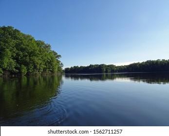 The sky above North Shattuck Lake, New Auburn, Wisconsin