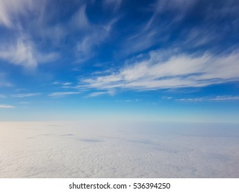 Sky from the airplane, beautiful background