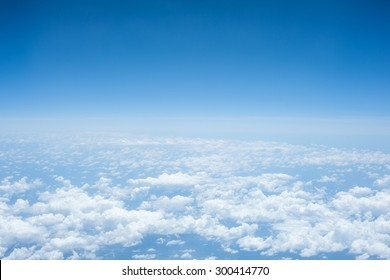 sky airplane view clouds background