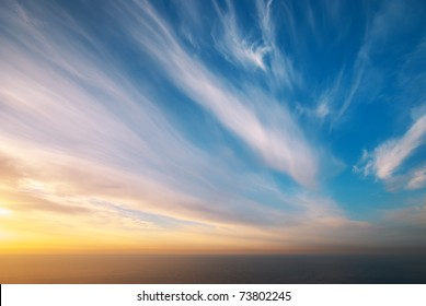 Sky background. Composition of nature.