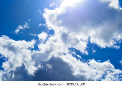 Sky background. Natural landscape of cloudy sunset sky with dramatic clouds