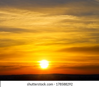 Sky background on sunset