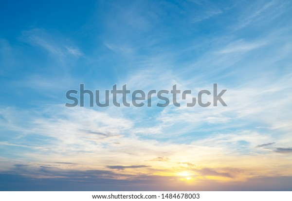 Sky background on sunset. Nature abstract composition