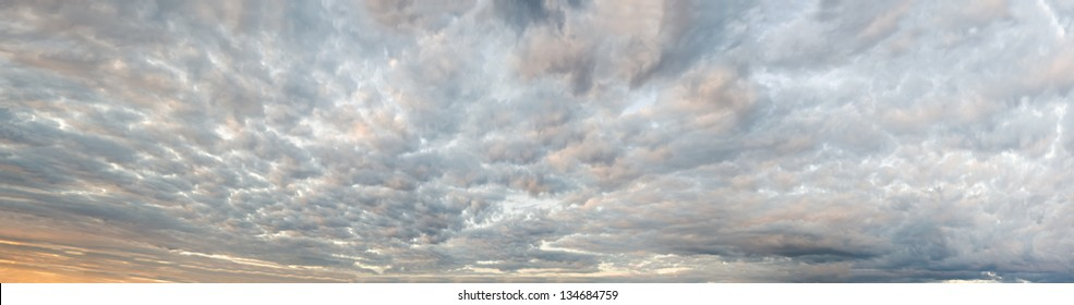 Sky background panorama. Made from several dozen frames, stitched together to achieve very high resolution.