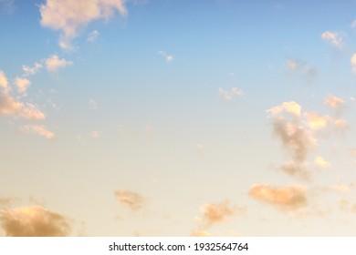 Sky background in sunrise dawn