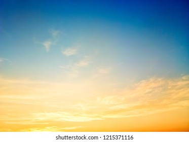 Sky beautiful sunset background in twilight time, colorful scene, amazing nature landscape image