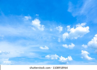 Sky blue or azure sky summer and clear clouds  It is everything lies above surface Earth atmosphere and outer space. Cloud is aerosol comprising visible mass of liquid droplets frozen crystals in air