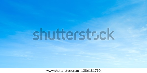 Sky blue background. Cloud clear