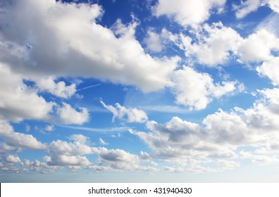 Sky, blue sky background with clouds.