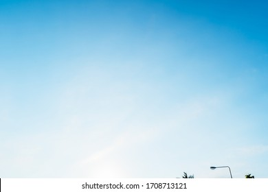 Sky blue background. Natural background bright,Thailand-Malaysia border