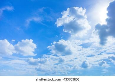 Sky, The blue sky with cloud