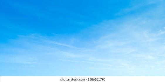 Sky blue cloud background. Clear sky