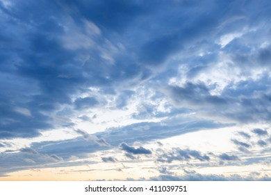 Sky blue clouds in typhoon days