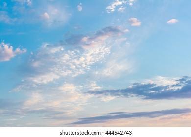 Sky. Blue sky. Evening sky.