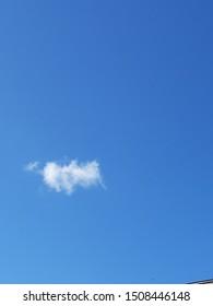 sky blue white Cloud air