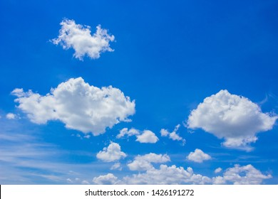 Sky with blue and white cloud fluffy on day