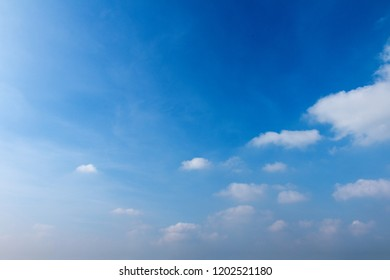 Sky is blue with white clouds. The beauty of nature