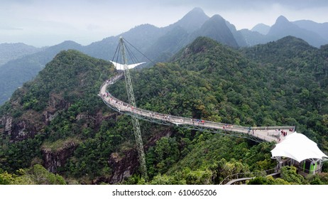 sky bridge at Langkawi Island near to the cable car.