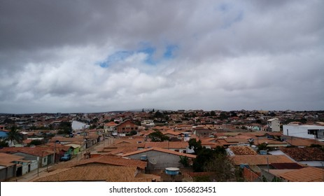 sky, city and houses