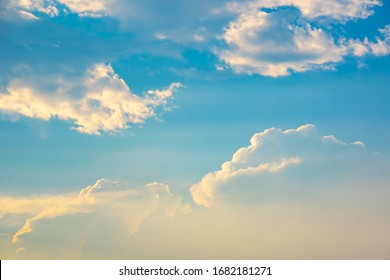 Sky cloud background concept, blue sky and white clouds white on daytime, light sunny pass it to beauty abstract wallpaper, photo for creative graphic design beautiful background