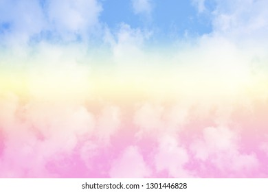 Sky and cloud background with a pastel colored