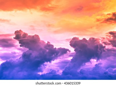 sky and cloud colorful