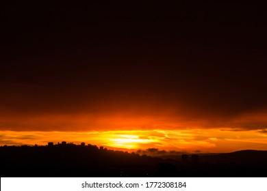 sky cloud line at dawn time daybreak
