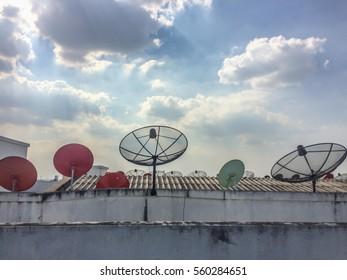 Sky and Cloud on Building Bangkok Thailand