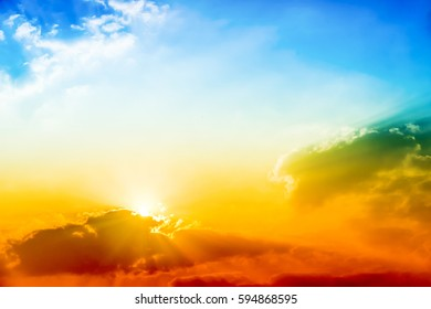 sky, cloud, The rising sun, abstract, background