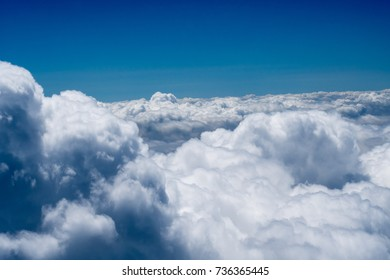 Sky and Cloud view on the plane