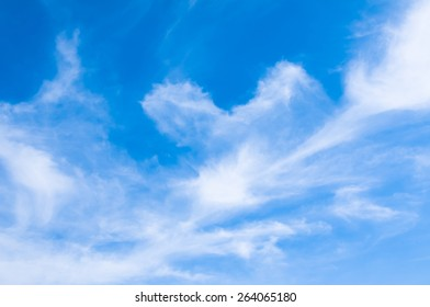 sky and cloud - white fluffy heavenly blue up high air bright daylight