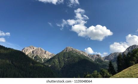 Sky and clouds in Apls sudtirol