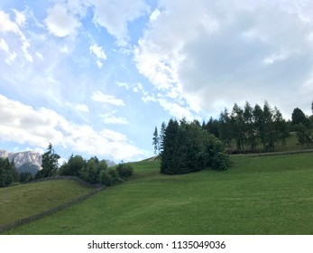 Sky, clouds and beautiful green in sudtirol Italy