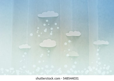 The sky and clouds. Bright and cartoon. Background paper.