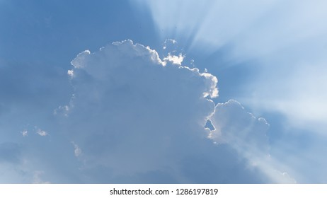 The sky, the clouds cover the light from the sun In the daytime.