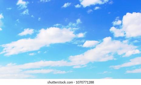 sky clouds czech republic in spring