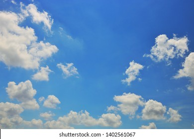 Sky and clouds during the daytime in the summer.