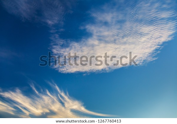 Sky with clouds during sunset