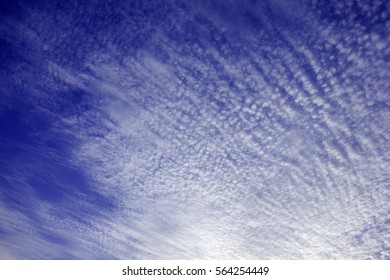 Sky and clouds at dusk is beautiful skin
