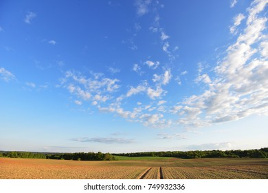 sky , clouds and field. summer landscape