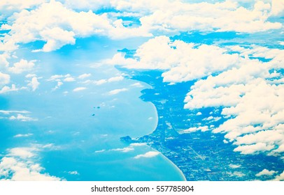 Sky and clouds nature background.