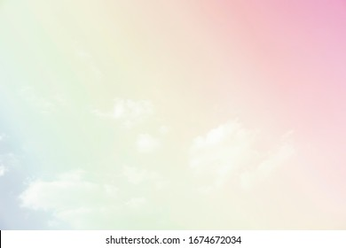 Sky and clouds in pastel tones.Colorful natural background for graphic design or wallpaper in the romantic love concept