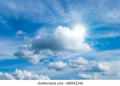 sky clouds and sun